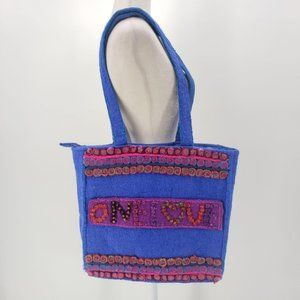 Rising International Wool Multicolor One Love Tote